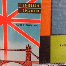 Libros de segunda mano: ENGLISH SPOKEN. CURSO COMPLETO, DOS LIBROS Y ONCE DISCOS. ED. MIRAFÓN.. Lote 133227507