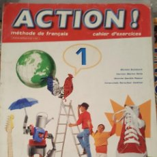 Libros de segunda mano: MHÉTODE DE FRANÇAIS - ACTION! 1 (EXCERCICES) - EDITORIAL SANTILLANAB. Lote 136408242
