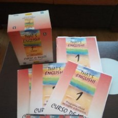 Libros de segunda mano: THAT'S ENGLISH! PRIMER CURSO COMPLETO MÓDULOS 1,2 Y 3. Lote 136706070