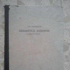 Libros de segunda mano: GRAMÁTICA ALEMANA - 2ª PARTE, SINTAXIS - BACHILLERATO - JOSÉ WEINBERGER - 1942. Lote 137194794