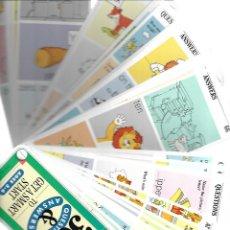 Libros de segunda mano: COLECCION DE DOS FICHEROS CON 300 CUESTIONES PARA APRENDER INGLES. Lote 137306310