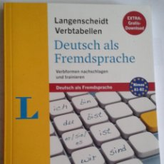 Libros de segunda mano: DEUTSCH ALS FREMDSPRACHE. LANGENSCHEIDT VERBTABELLEN. VERBOS ALEMÁN. Lote 139058506