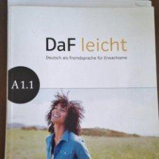 Libros de segunda mano: DAF LEICHT. A 1.1. ED KLETT. LIBRO DE TEXTO ALEMÁN NIVEL A 1.1. INCLUYE CD. Lote 139171838