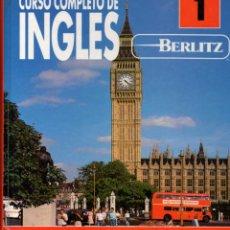 Libros de segunda mano: CURSO COMPLETO DE INGLÉS BERLITZ, TOMO 1. Lote 139762326