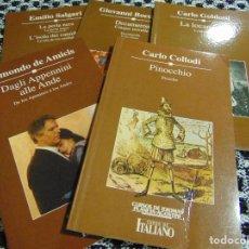 Libros de segunda mano: ITALIANO - CURSO DE IDIOMAS PLANETA AGOSTINI - LIBROS DE LECTURA PROGRAMADAS QUE ACOMPAÑAN EL CURSO-. Lote 140430326