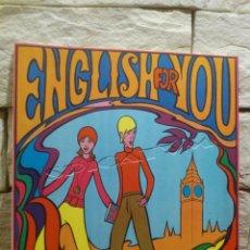 Libros de segunda mano: ENGLISH FOR YOU - AN ELEMENTARY COURSE - PRIMERA EDICION - 1969 - CONEJERO - DIFUSORA DE CULTURA -. Lote 140492930