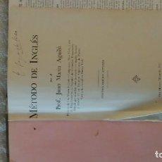 Libros de segunda mano: MÉTODO DE INGLES POR EL PROF. JUAN MARIN AGUILU. SEGUNDA EDICIÓN 1948. Lote 143130490