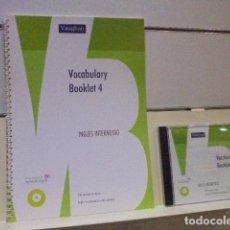 Libros de segunda mano: VAUGHAN VOCABULARY BOOKLET 4 INGLES INTERMEDIO 900 TERMINOS EN INGLES - LLEVA CD AUDIO. Lote 143737610