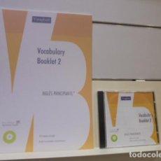 Libros de segunda mano: VAUGHAN VOCABULARY BOOKLET 2 INGLES PRINCIPIANTE 900 TERMINOS EN INGLES - LLEVA CD AUDIO. Lote 143738098