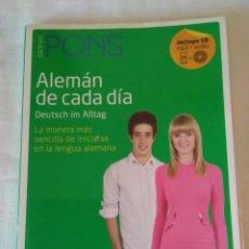 Libros de segunda mano: 107-ALEMAN DE CADA DIA, IDIOMAS PONS, 2001, CONTIENE CD.. Lote 144328634