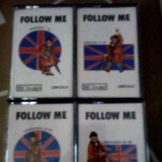 Libros de segunda mano: FOLLOW ME BBC ENGLISH CIRCULO COMPLETO CUATRO CASSETTES 60 UNIDADES. Lote 150790026