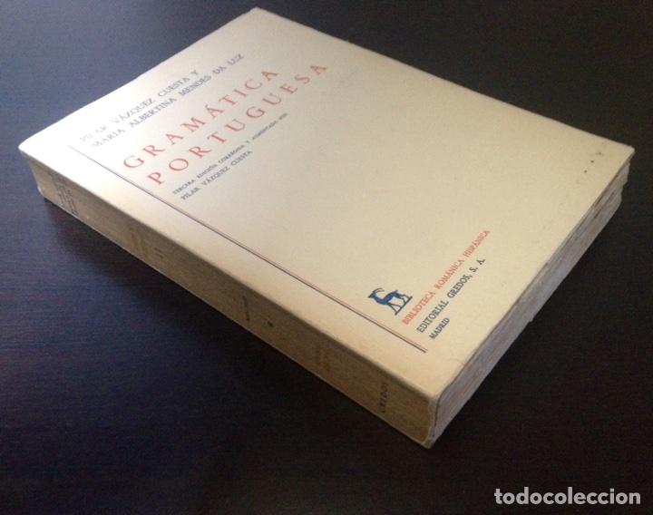 Libros de segunda mano: Gramática portuguesa, Biblioteca Románica Hispánica, 9, Madrid, 3ª edición corregida Gredos, 1971. - Foto 6 - 147791657