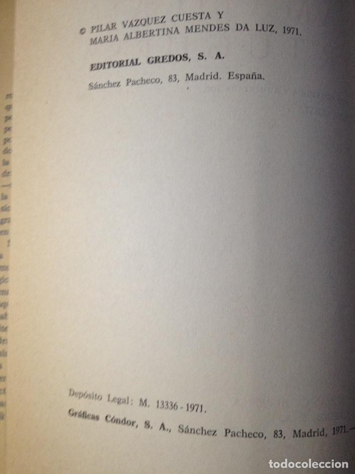 Libros de segunda mano: Gramática portuguesa, Biblioteca Románica Hispánica, 9, Madrid, 3ª edición corregida Gredos, 1971. - Foto 9 - 147791657