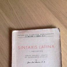 Libros de segunda mano: JUAN LEAL, SINTAXIS LATINA I. PRECEPTOS. Lote 148673610