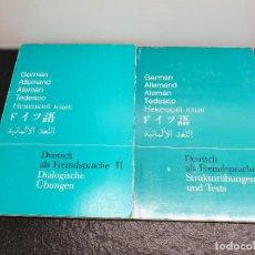 Libros de segunda mano: DEUTSCH ALS FREMDSPRACHE II DIALOGISCHE ÜBUNGEN/STRUKTURÜBUNGEN UND TESTS CURSO ALEMÁN (ENVÍO 4,31€). Lote 151177314