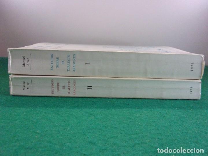 Libros de segunda mano: ESTUDIOS SOBRE EL DIALECTO ARAGONÉS I y II / Manuel Alvar / 1978. Institución Fernando el Católico - Foto 3 - 126141035
