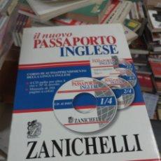 Libros de segunda mano: IL NUOVO PASSAPORTO INGLESE. ZANICHELLI. LIBRO + 4 CD-ROM. BOLOGNA, 2007. Lote 156268188