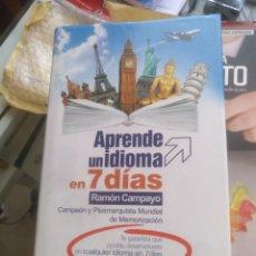 Libros de segunda mano: APRENDE UN IDIOMA EN 7 DIAS RAMON CAMPAYO. Lote 156609288