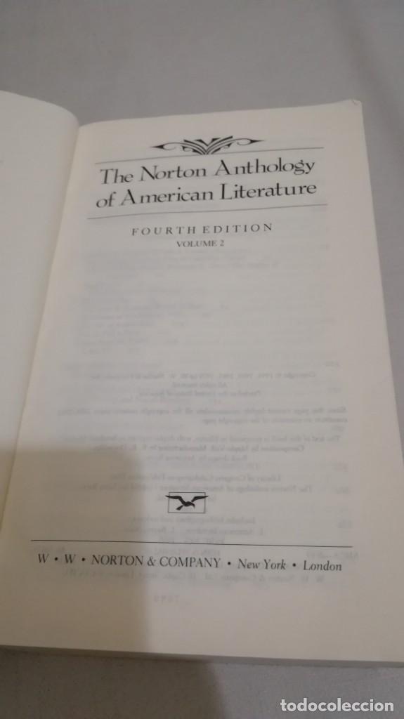 Libros de segunda mano: THE NORTON ANTHOLOGY OF AMERICAN LITERATURE. Vol 2 ANTOLOGIA LITERATURA AMERICANA FILOLOGÍA - Foto 10 - 158404686