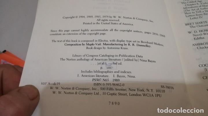 Libros de segunda mano: THE NORTON ANTHOLOGY OF AMERICAN LITERATURE. Vol 2 ANTOLOGIA LITERATURA AMERICANA FILOLOGÍA - Foto 11 - 158404686