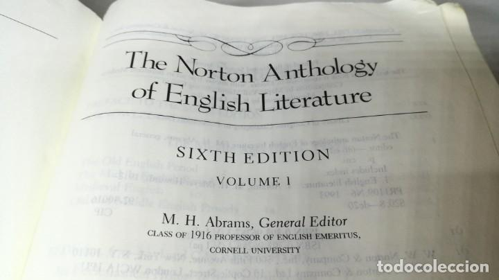 Libros de segunda mano: THE NORTON ANTHOLOGY ENGLISH LITERATURE ANTOLOGÍA LITERATURA INGLESA FILOLOGÍA VOL 1 - Foto 5 - 158405098