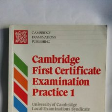 Libros de segunda mano: CAMBRIDGE FIRST CERTIFICATE EXAMINATION. Lote 158605012