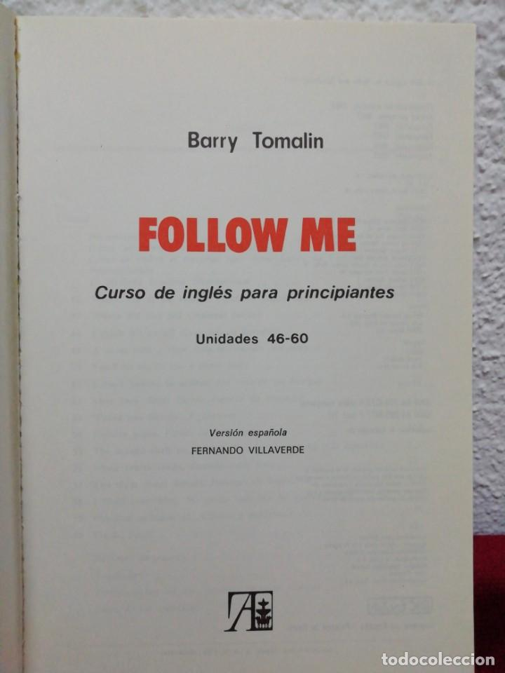 Libros de segunda mano: Follow me. Curso de inglés para principiantes. Unidades 46-60. Versión española de Fernando Valverde - Foto 2 - 160926718