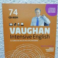 Libros de segunda mano: VAUGHAN, INTENSIVE ENGLISH. CURSO DE INGLÉS MULTIPLATAFORMA. CDROM N° 74. Lote 160927773