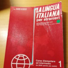 Libros de segunda mano: LA LINGUA ITALIANA PER STRANIERI. CORSO ELEMENTARE ED INTERMEDIO 1 (KATERINOV). Lote 162651974