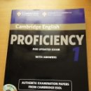 Libros de segunda mano: PROFICIENCY FOR UPDATED EXAM. WITH ANSWERS (WITH 2 AUDIO CDS) CAMBRIDGE ENGLISH. Lote 163593834