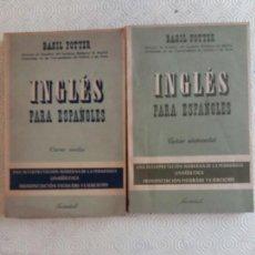 Libros de segunda mano: INGLÉS PARA ESPAÑOLES - BASIL POTTER - ED. JUVENTUD - 1960. Lote 165647394