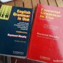 Libros de segunda mano: 2 LIBROS SOBRE GRAMÁTICA INGLESA, DE RAYMOND MURPHY. CAMBRIDGE. EXCELENTE ESTADO.. Lote 165747422