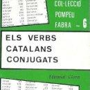 Libros de segunda mano: ELS VERBS CATALANS CONJUGATS. Lote 165793798