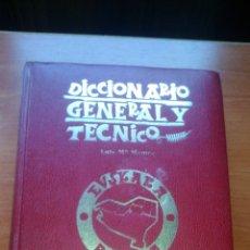 Libros de segunda mano: CASTELLANO - EUSKERA - DICCIONARIO GENERAL Y TECNICO - EDICIONES VASCAS - 1979. Lote 167982564
