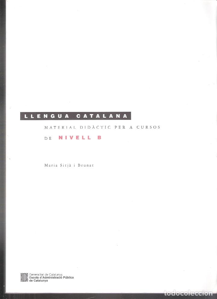 CURSOS DE LLENGUA CATALANA. MATERIAL DIDÀCTIC PER A CURSOS DE NIVELL B. MARIA SITJÀ IN BRUNAT. GENER (Libros de Segunda Mano - Cursos de Idiomas)