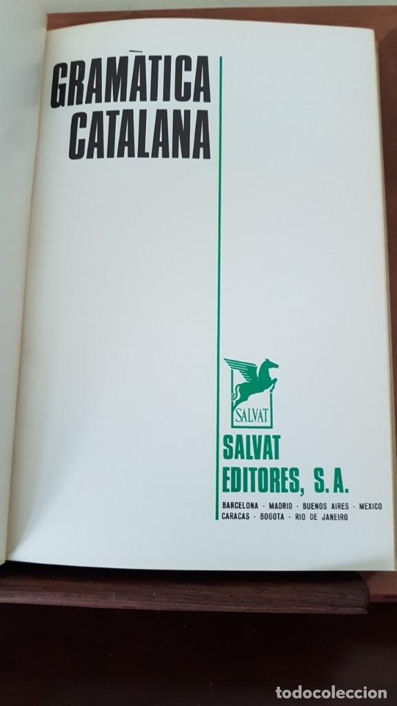 GRAMATICA CATALANA - A. JANE - EDITORIAL SALVAT - 1968 (Libros de Segunda Mano - Cursos de Idiomas)