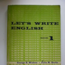 Libros de segunda mano: LET'S WRITE ENGLISH. Lote 171181155