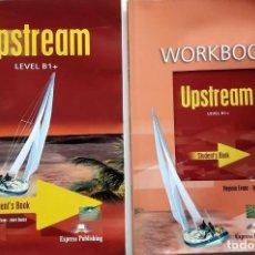 Libros de segunda mano: UPSTREAM LEVEL B1+ STUDENT'S BOOK Y WORKBOOK + CD *GASTOS DE ENVÍO 9 EUROS*. Lote 171671843