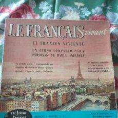 Libros de segunda mano: CURSO FRANCES, EL FRANCES VIVIENTE. EN VINILO.. Lote 172927525