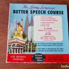 Libros de segunda mano: THE LIVING LANGUAGE. BETTER SPEECH COURSE 1965 (LOS IDIOMAS VIVIENTES). Lote 172986293