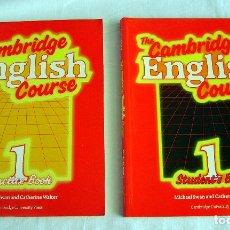 Libros de segunda mano: CAMBRIDGE ENGLISH COURSE, 1 STUDENT BOOK + 1 PRACTISE BOOK, 1989. Lote 173496988