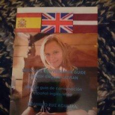 Libros de segunda mano: TRILINGÜE GUÍA DE CONVERSACIÓN ESPAÑOL-INGLÉS-LETÓN. Lote 173599982