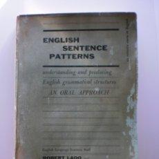 Libros de segunda mano: ENGLISH SENTENCE PATTERNS. Lote 174054137