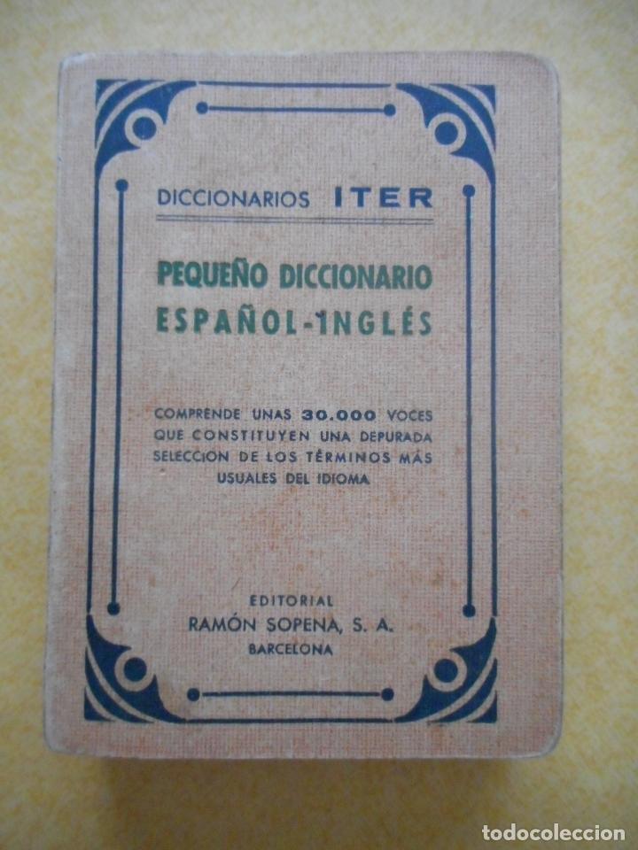 Libros de segunda mano: Lote dos diccionarios de inglés -Iter y Cuyás- 1943 y 1927. Editoriales Sopena y Cuyás. Buen estado - Foto 2 - 174326638