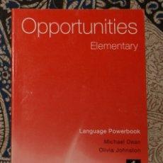 Libros de segunda mano: OPPORTUNITIES ELEMENTARY TEACHER'S BOOK . Lote 174986042