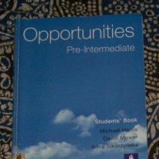 Libros de segunda mano: OPPORTUNITIES PRE-INTERMEDIATE STUDENT'S BOOK . Lote 174987319