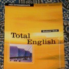 Libros de segunda mano: TOTAL ENGLISH PRE-INTERMEDIATE STUDENT'S BOOK . Lote 174987827