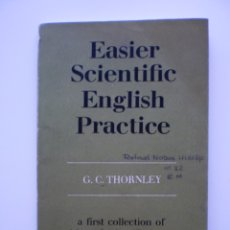 Libros de segunda mano: EASIER SCIENTIFIC ENGLISH PRACTICE. Lote 175093544