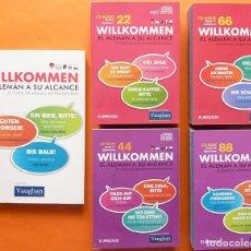 Libros de segunda mano: WILLKOMMEN:EL ALEMÁN A SU ALCANCE(CURSO DE ALEMAN MULTIPLATAFORMA)-1 LIBRO+88 CD AUDIO/CDROM-VAUGHAN. Lote 177495643