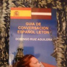 Libros de segunda mano: GUÍA DE CONVERSACIÓN ESPAÑOL-LETON. Lote 177708514